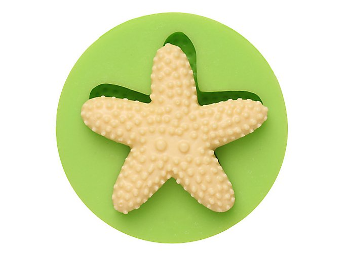 7ES 0503 Animal Mould Starfish Fondant Silicone Molds for cake decorating