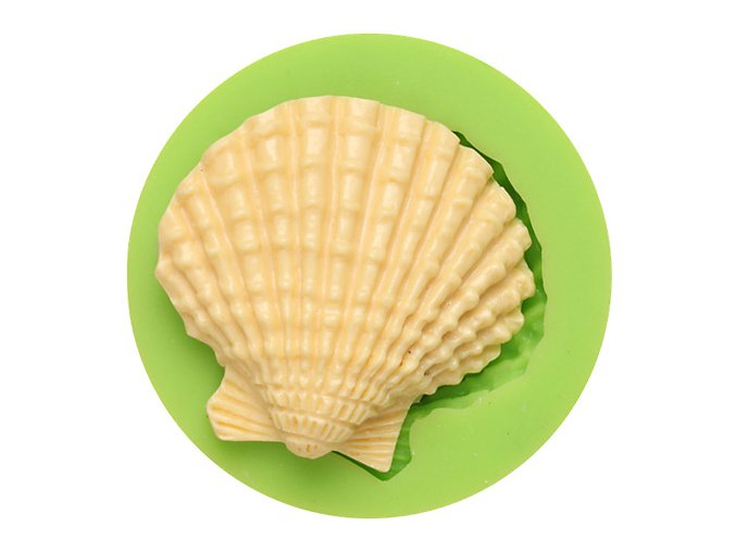 7ES 0507 Seashell Shaped Silicone Molds Fondant Mould for cake decorating