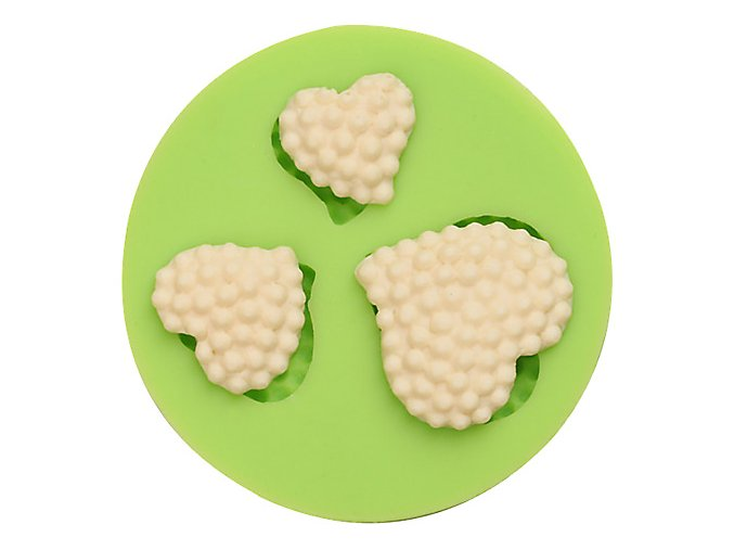 ES 1519 Love hearts round Silicone Molds for Fondant Cake Decorating