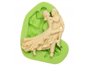 ES 1411 Dancing lady and gentleman Silicone Molds for Fondant Cake Decorating