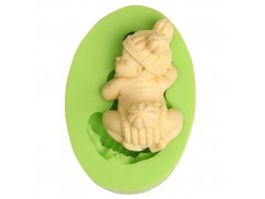 ES 1013 Baby with Hat Sweet Dreams Silicone Soap Mould