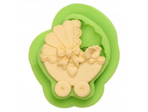 ES 1201 Baby Carriage Silicone Mould