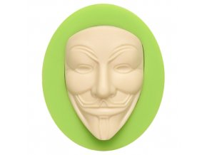 7ES 0819 Vendetta V Mask Anonymous Fondant Silicone Molds for cake decorating