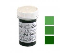 Gelová barva Sugarflair (25 g) Christmas Green