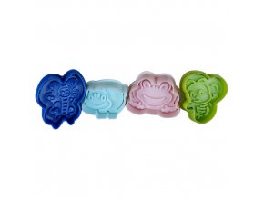 cp 207 strong food grade animal bee frog butterfly hippo 4 pcs cookie cutter set