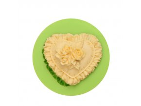 ES 1512 Love heart with flower Silicone Molds for Fondant Cake Decorating