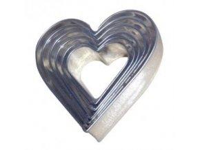 Sada vykrajovátek tvar srdce