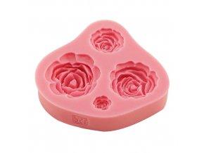Silikonová formička květy růže