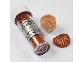 jedla prachova perletova barva sugarflair 7 ml bronze splendour