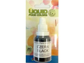 airbrush barva tekuta food colours black 20 ml cerna1