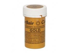 gelova barva perletova sugarflair 25 g gold