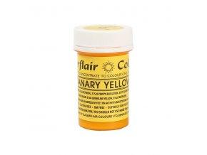 gelova barva sugarflair 25 g canary yellow