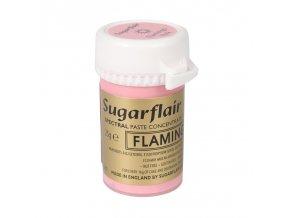 gelova barva sugarflair 25 g flamingo pink