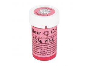 gelova barva sugarflair 25 g rose pink