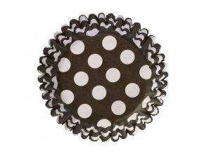 culpitt kosicky na muffiny cerne s bilymi puntiky 54 ks 1