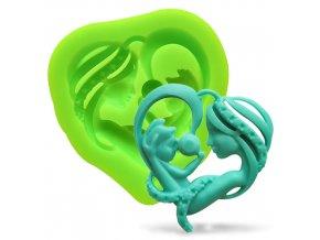 Silikonová formička srdce