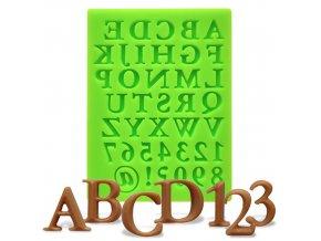 Silikonová formička abeceda s čísly