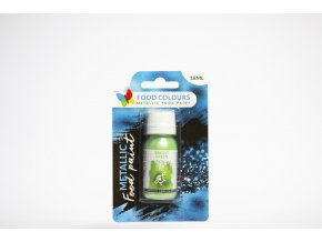 tekuta metalicka barva food colours bright green 18 ml
