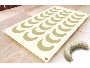 Silikonová pečící forma na vanilkové rohlíčky