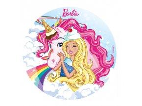 Jedlý papír Barbie - 20cm