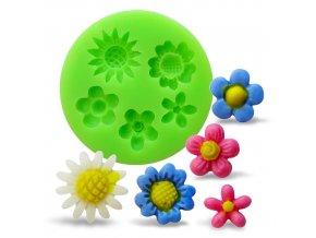 Silikonová formička mix květin