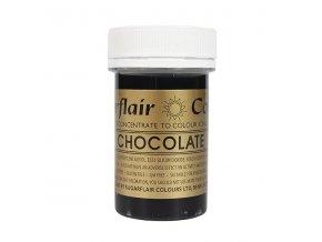 gelova barva sugarflair 25 g chocolate