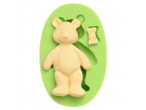 7ES 0001 Animal Mould Teddy Bear Bow Fondant Silicone Molds for cake decorating