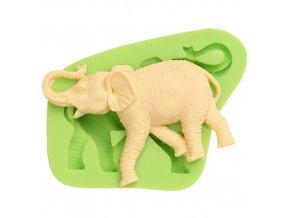 7ES 0022 Elephant Silicone Molds Fondant Mould for cake decorating