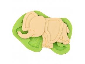 7ES 0039 Elephant Silicone Molds Fondant Mould for cake decorating