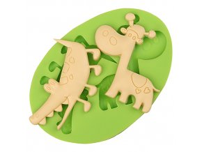 7ES 0041 Crocodile Giraffe Silicone Molds Fondant Mould for cake decorating