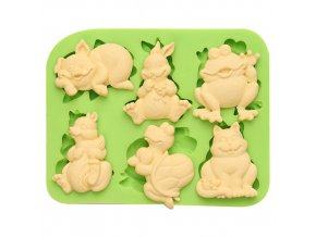 7ES 0044 Animal Themed Silicone Molds Fondant Mould for cake decorating