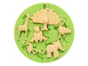 7ES 0047 Animal Themed Silicone Molds Fondant Mould for cake decorating
