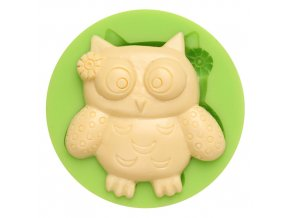 7ES 0103 Owl Silicone Molds Fondant Mould for cake decorating