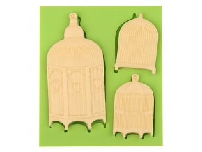 7ES 0109 Birdcage Series Silicone Molds Fondant Mould for cake decorating