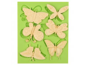 7ES 0210 Butterflies Series Silicone Molds Fondant Mould for cake decorating