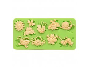 7ES 0211 Insect Series Silicone Molds Fondant Mould for cake decorating