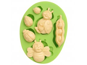 7ES 0212 Insect Series Silicone Molds Fondant Mould for cake decorating