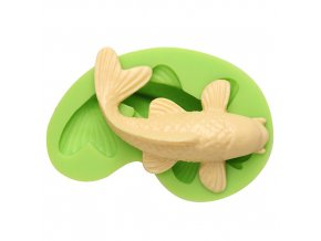 7ES 0402 Animal Mould Koi Fish Fondant Silicone Molds for cake decorating