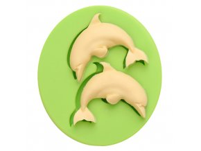 7ES 0410 Animal Mould Dolphin Fish Fondant Silicone Molds for cake decorating