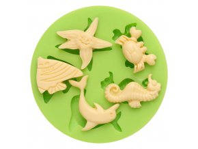 7ES 0413 Ocean Animal Series Silicone Molds Fondant Mould for cake decorating