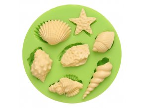 7ES 0509 Animal Mould Assorted Sea Star Seashells Fondant Silicone Molds for cake decorating