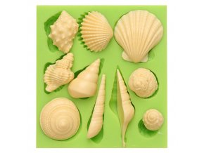7ES 0514 Animal Mould Romantic Seashell Fondant Silicone Molds for cake decorating