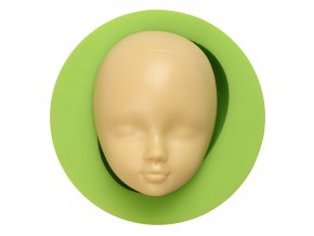 ES 1607 1Baby Doll Head Face Silicone Flexible Mold Clay Cake Soap