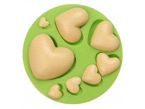 ES 1520 Love hearts round Silicone Molds for Fondant Cake Decorating
