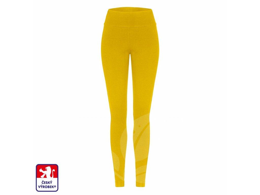 Leggings long mustard front O3