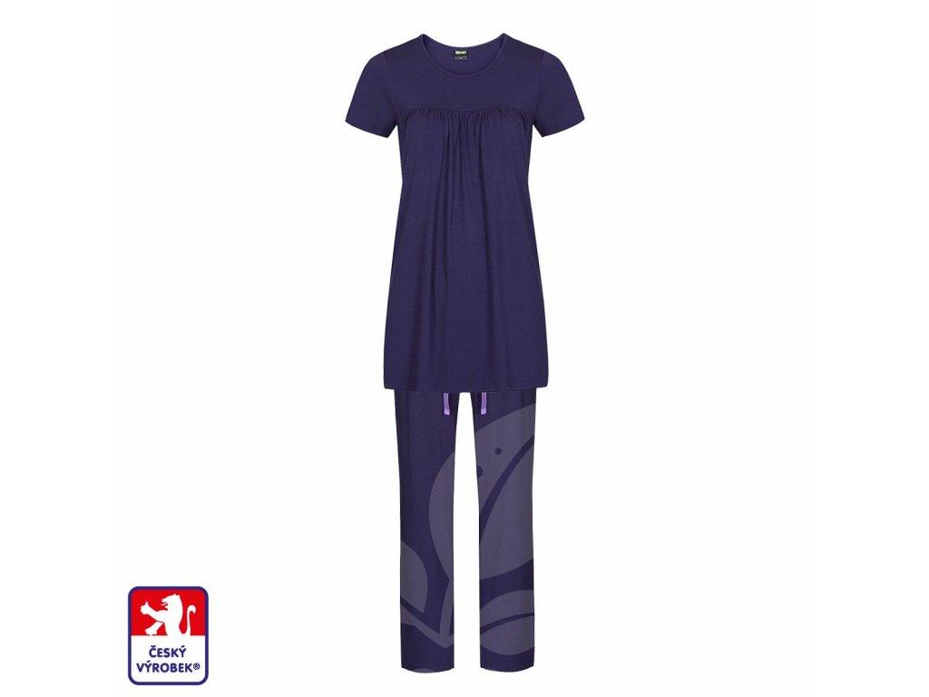 Pyjamo set long dark blue O3