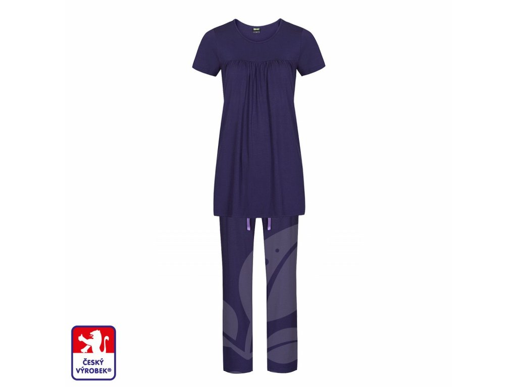 Pyjamo set long dark blue O3