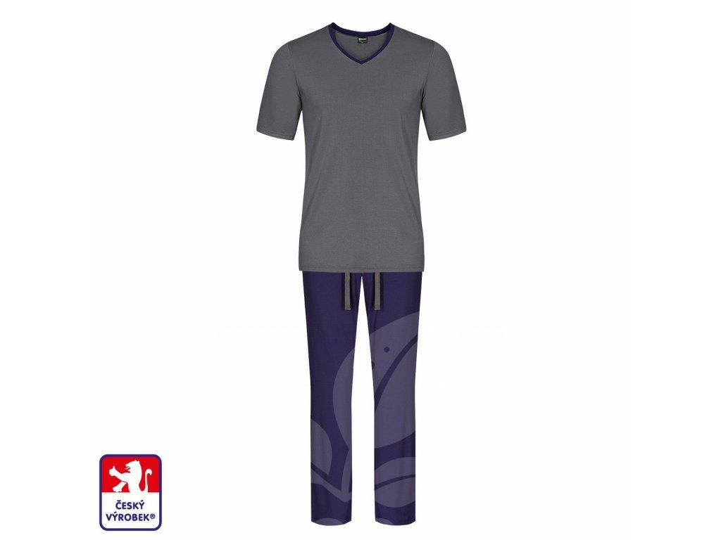 Pyjamo set long grey blue O3