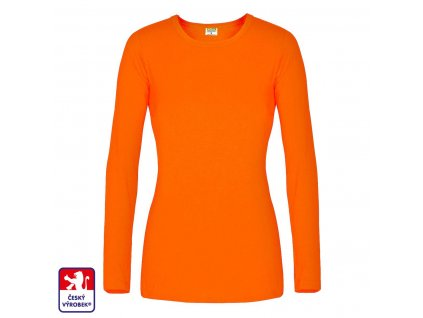 Woman Classis long orange front O3