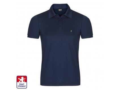 Polo navy blue front O3